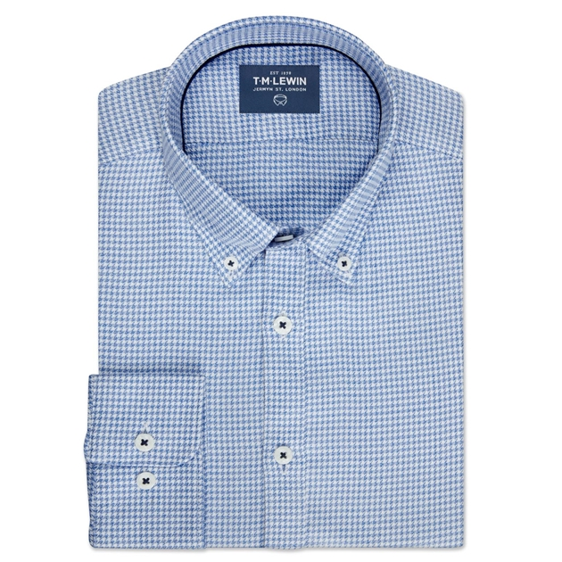 Dogtooth Check Blue White