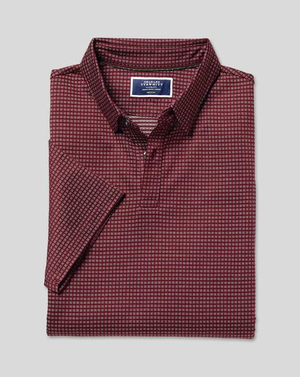 jacquard-cotton-polo-burgundy