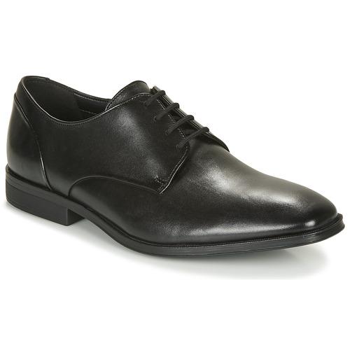 Gilman Plain Black Leather