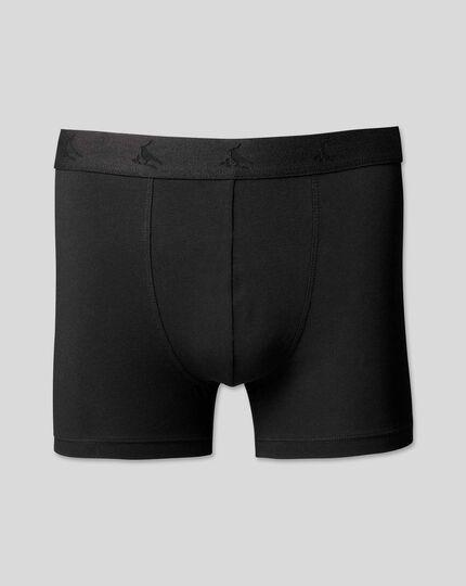 Cotton Stretch Jersey Trunks - Black