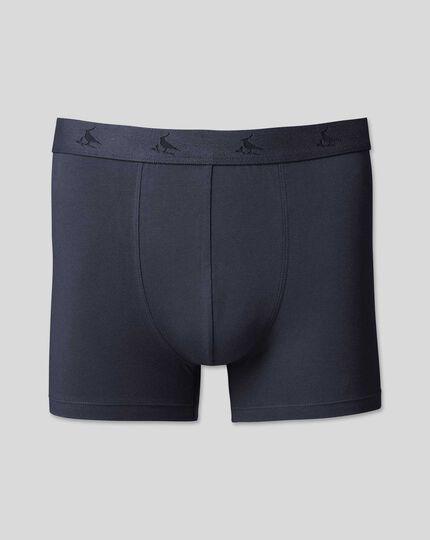 Cotton Stretch Jersey Trunks - Navy