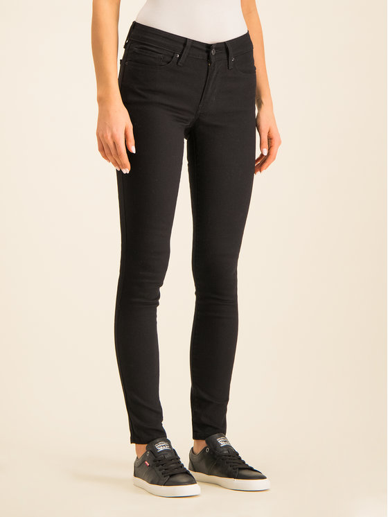 Zip Fly Skinny Fit Jeans - Black